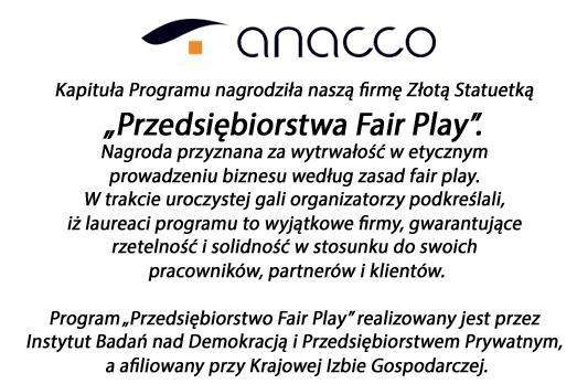 Anacco Advisors and Trainers - Firma Fair Play