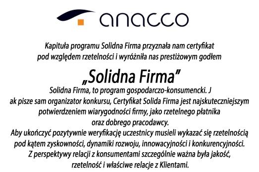 Anacco Advisors and Trainers - Solidna Firma