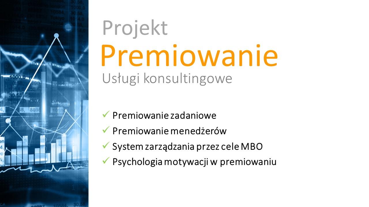 wynagrodzenia projekt - premiowanie